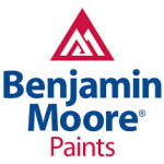 Benjamin Moore Paints logo with a twin white mountain inscribed in a red triangle